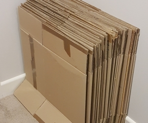 25 x used cardboard packing boxes