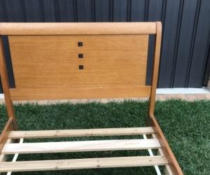 Hard wood bed frame - king single