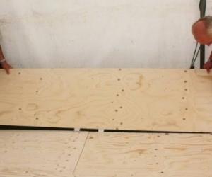 plywood flooring panel or similar sized hoarding/timber sheet