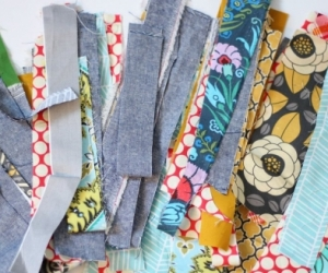 Cotton Fabric strips from Quilters