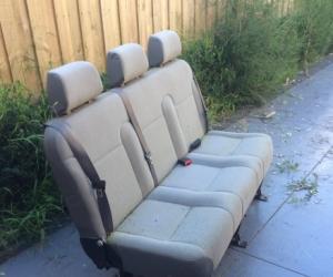 VW van - 3 bench seat assembly