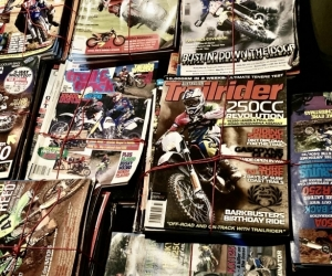 Motorcycle magazines 85%dirt 15%road oriented.