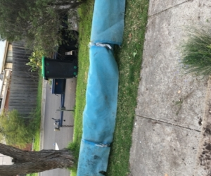pool cover and roller  4.9 metres long