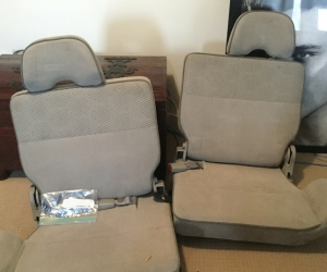 Rear seats for a Nissan patrol