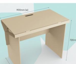 Desk -cardboard study desk