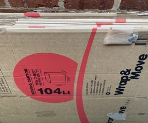 Used moving boxes