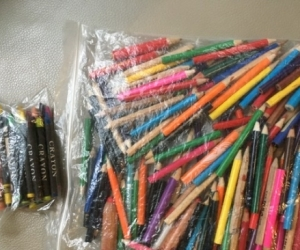 Coloured pencils and crayons