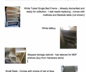 Unisex white single bedroom suite