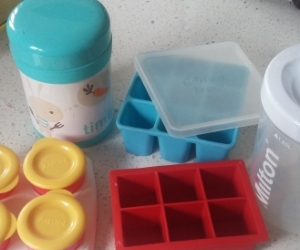 Baby food containers and milton sterilizer