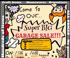 Massive GARAGE SALE!!! 15th to 16th August. 100s of items