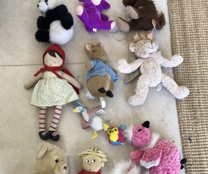 Teddies, dolls and animal soft toys