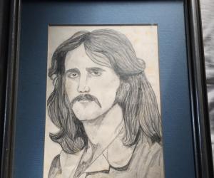 Framed pencil portrait Box Hill VIC