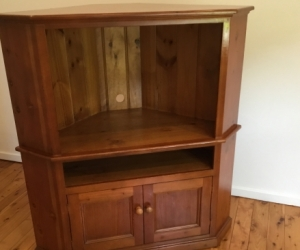 Free Wooden TV Corner Cabinet