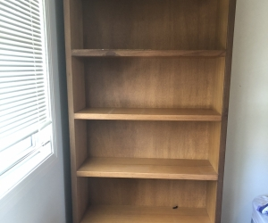 Solid timber bookshelves as new