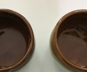 Two small pottery pots
