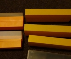 small slide storage boxes