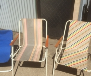 Fold up chairs for beach, deck etc
