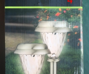 Solar-powered Path Lamps (4) with Warm White LEDs