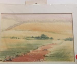 Small watercolour landscape