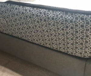 Queen size bed mattress and timber slat base