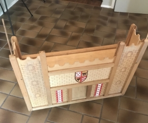 Three tier wooden castle doll house