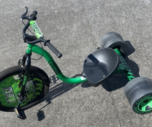 Kids mean and green trike tricycle,