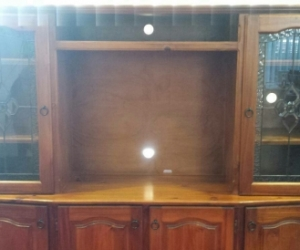 ENTERTAINMENT UNIT SOLID PINE - Very Good Condition