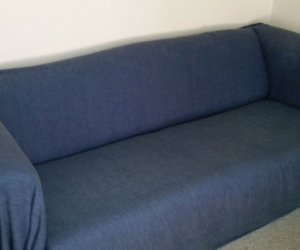 pull out sofa bed with blue cover
