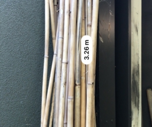 Bamboo - long pieces ( note- half taken , approx 25 pieces left)