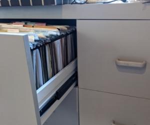 4 drawer filing cabinet (not metal)