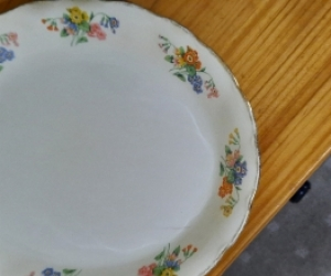 Large size oval plate