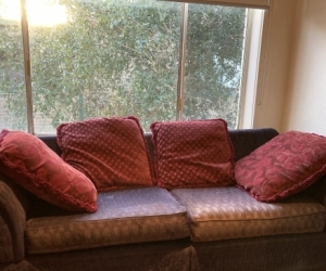 boho grubge 2nd hand velvet couch -bespoke - an oldy but a goody