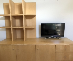 TV Unit Cabinet and Bookcase