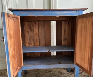 Shabby Chic large Blue Cabinet with 2 doors