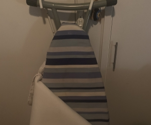 Ironing board with cover and holder beavket