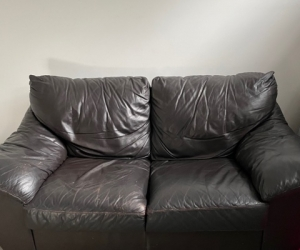 2 Seater Leather Lounge