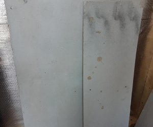 Plaster and cement sheet