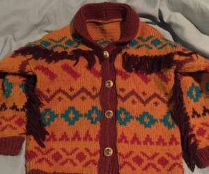 Hand-knitted cardigan - 4 year old size