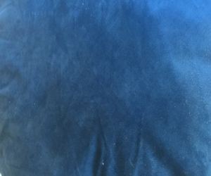 4 x large dark blue velvet pet beds/cushions