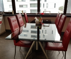Glass Dinning Table + cabinets
