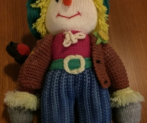 Knitted Scarecrow Doll