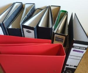 Lever Arch Folders/Binders (qty 14)