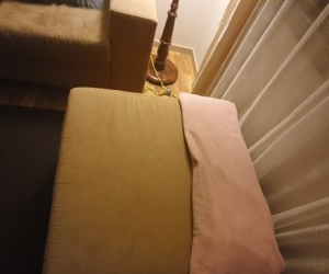 Beige 3 Seater Couche and Ottoman