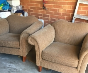 Two very comfortable armchairs