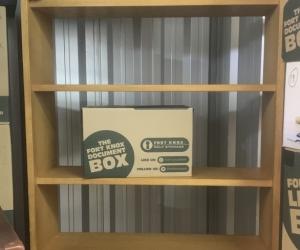 Heavy duty Ash laminate Bookcase (Eltham Storage location)