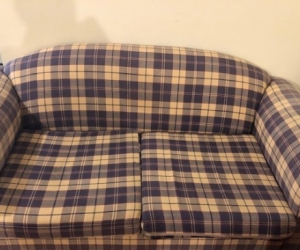 2 TWO SEATER SOFA SET