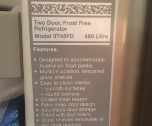 Admiral Two Door, Frost Free Refrigerator 9T48FD