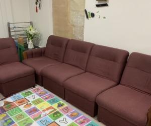 5 piece sofa modular set