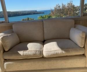 White to Cream 2 seater lounge