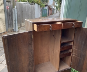 small-ish timber wardrobe